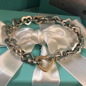 Tiffany Co Heart Link Bracelet 750/925